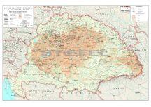 A népdalgyűjtés helyei Magyarországon - Kodály és Bartók népdalgyűjtésének helyei , 140*100 cm - laminált, faléces
