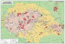 Magyar néprajzi térkép 65*45 cm könyöklő