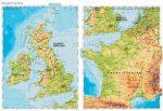 Nyugat-Európa domborzata -160*120 cm-laminált,faléces