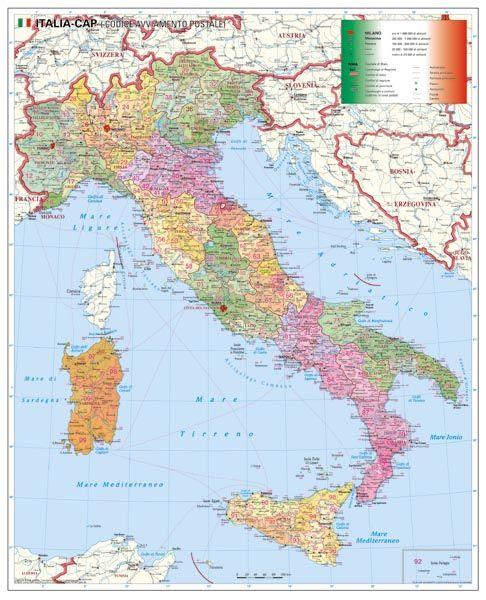 magyarország olaszország térkép Olaszország irányítószámos falitérképe 100*140 cm   lécezett   A  magyarország olaszország térkép