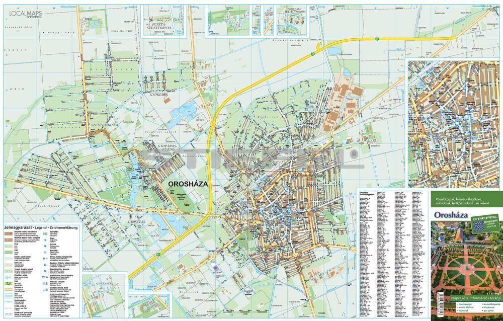 orosháza térkép Orosháza   hajtogatott várostérkép   A Lurdy Ház Térképbolt,Tel  orosháza térkép