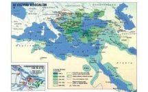 Az Oszmán Birodalom,  160*120 cm - laminált, faléces
