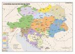Az Osztrák-Magyar Monarchia népei ,  160*120 cm - laminált, faléces