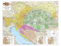 Az Osztrák-Magyar Monarchia falitérkép 160*120 cm - laminált, faléces