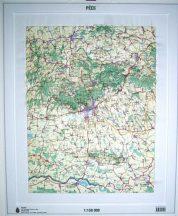 Pécs domború térkép (keretezett)