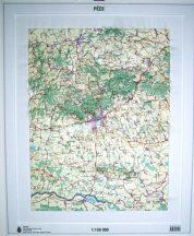 Pécs domború térkép