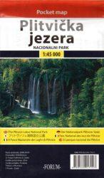 Plitvička jezera Pocket map - Plitvicei-tavak Nemzeti Park zsebtérkép