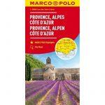 Provance, Cote d Azur, Rhone-Alpok térkép