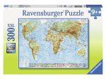 Világtérkép 300 darabos XXL puzzle