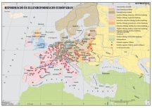 Reformáció és ellenreformáció Európában,  160*120 cm - laminált, faléces
