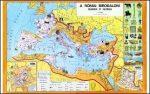 A Római Birodalom gazdasága és kultúrája,  160*120 cm - laminált, faléces