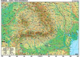 Románia domborzati + vaktérkép DUO (román nyelvű)-160*120 cm-laminált,faléces