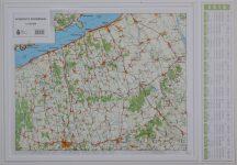 Somogyi-dombság domború térkép (keretezett)