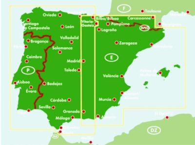 Spanyolorszag Portugalia 1 700 000 Terkep A Lurdy Haz