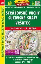 Strážovské vrchy, Súľovské skály, Vrsatek turistatérkép - 480 - turistatérkép