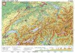 Svájc, domborzati (német nyelvű)-160*120 cm-laminált,faléces