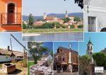 Szentendre képekben tányéralátét könyöklő + hátoldalon Dunakanyar térkép városokkal