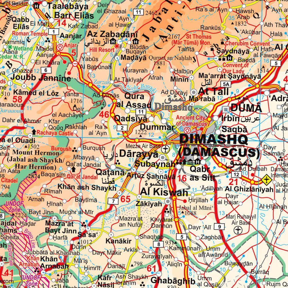 autós térkép Szíria, Libanon   autóstérkép domborzattal   A Lurdy Ház  autós térkép