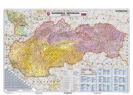 Szlovákia irányítószámos falitérképe 130*90 cm - lécezett