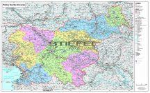 Szlovénia irányítószámos falitérképe 140*100 cm - lécezett