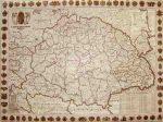 A Magyar Szent Korona Országai 1914 falitérkép antik színű 70*50 cm (fóliázott, keretezett)