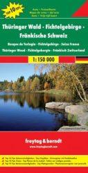 Thüringer Wald-Fichtelgebirge-Fränkische Schweiz, Top 10 tipp, 1:150 000