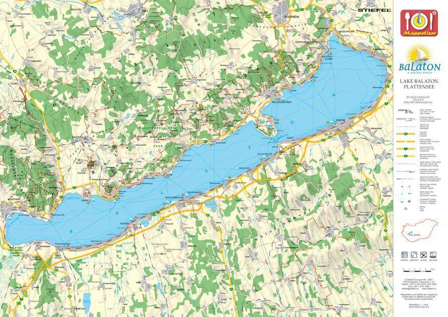 balaton térkép tihany Tihany tányéralátét könyöklő + hátoldalán Balaton térkép   A Lurdy  balaton térkép tihany