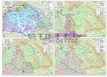 A török hódoltság Magyarországon - tematikus térképek  (1526-1600) 140*100 cm - laminált, faléces