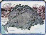 Nagy-Magyarország domború térképe 1899