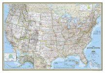 USA falitérkép 109*76 cm - íves papír