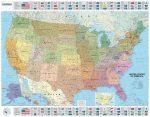 USA falitérkép 127*100 cm - íves papír