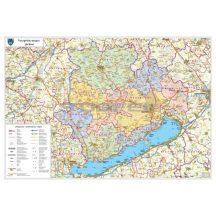 Veszprém megye falitérkép 100*70 cm - femleces