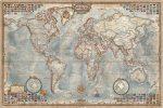 Világtérkép antik színű