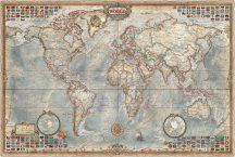 A Világ (The World) falitérkép 136*92 cm antik színű - térképtűvel szúrható, keretezett