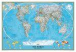 Világtérkép 279*193 kék