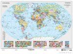 A Föld országai falitérkép 160*120 cm - léces