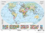 A Föld országai falitérkép 160*120 cm - tűzdelhető keretezett