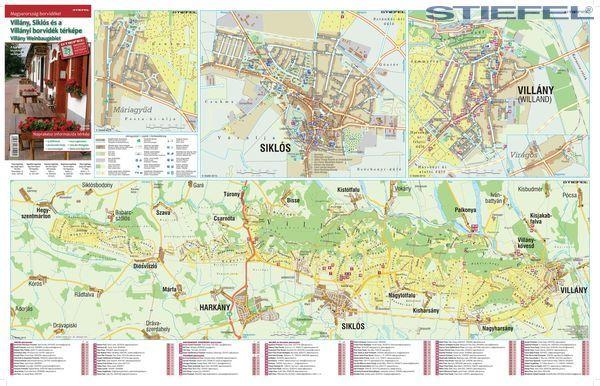 siklós térkép részletes Villány Siklós és a Villányi borvidék térképe 65*45 cm   asztali