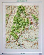 Zemplén domború térkép (keretezett)