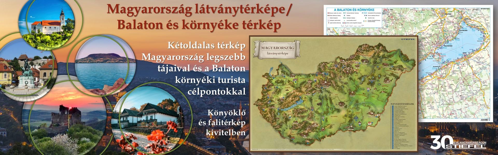 Magyarország látványtérkép - Balaton környéke